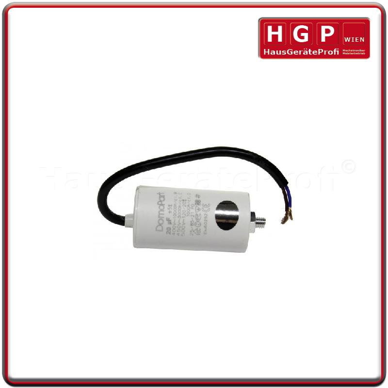 Kondensator 20 µF mit Kabel